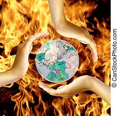 world in fire