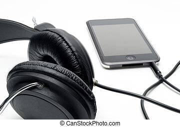 Headphones with player