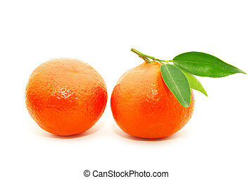 tangerine on white - tangerine isolated on a white...