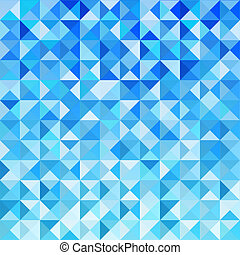 Blue Mosaic Background - Blue Mosaic Vector Background...