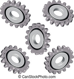 gears, machine parts, hours - gears, machine parts, watches,...
