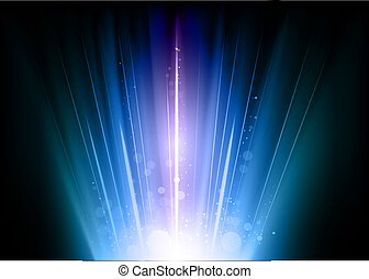 blue flares on the dark background