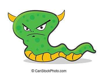 worm - illustration vector graphic cartoon character of worm
