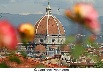 Florentine impression, cathedral of Florence seen from...