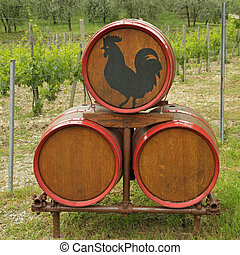 The barrels in Chianti - The barrels with iconic black...
