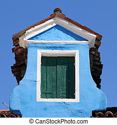 old roof window in Burano