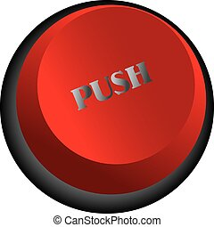 push button - The red button with the word