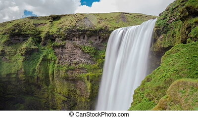 Skogafoss waterfall - Long exposure of top of skogafoss...