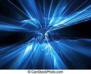 abstract flow of energy - modern technology background