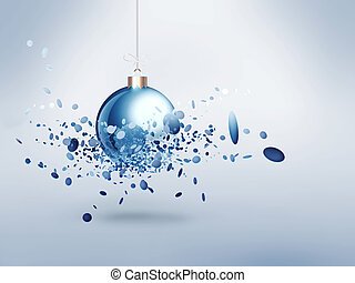 Christmas ball with burst effect