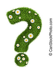 Natural grass question mark - Question mark photo realistic...