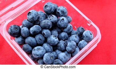 lovely blueberry in basket