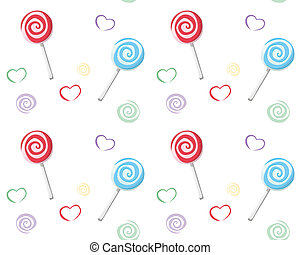 Lollipop pattern - Lollipop seamless pattern