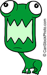 Green frog - Creative design of green frog