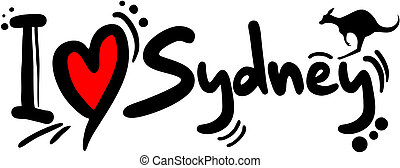 Love sydney - Creative design of love sydney