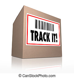 Track It Words Package Tracking Shipment Logistics - The...