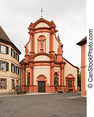Parish Church Gerlachsheim Germany - Exterior of monastery...
