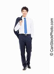 asiático, joven, empresa / negocio, hombre