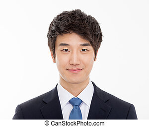 Asian young business man close up shot - Asian young...