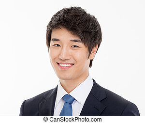 Asian young business man close up shot. - Asian young...