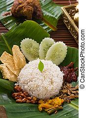 nasi lemak, traditional singapore food