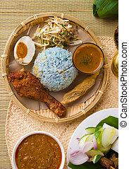 Nasi kerabu popular ramadan food in malaysia