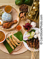 various popular malaysia food for ramadan, hari raya...
