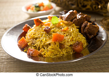 arab rice, ramadan foods in middle east usually served with...