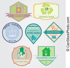 bio labels - set of labels relating to ecology theme,...