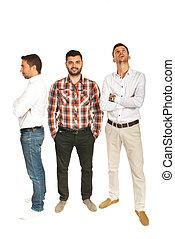 diferente, hombres, empresa / negocio