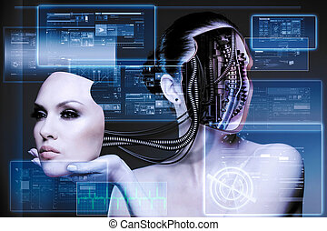 CyberFashion. Abstract techno backgrounds