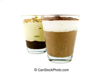 Two glasses Of Chocolate