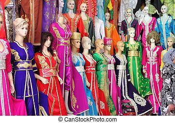 traditionnel, robe,  djellaba, femme,  long