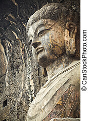 locana buddha in longmen grottoes,it is the masterpiece of...