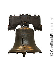 Liberty Bell - Isolated Liberty Bell in Philadelphia