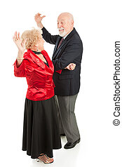 Seniors Dance the Night Away - Senior couple having a great...