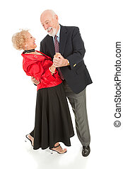 Seniors Dancing - The Dip - Romantic senior couple dancing...