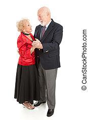 Senior Couple Dancing XXL - Beautiful senior couple dressed...