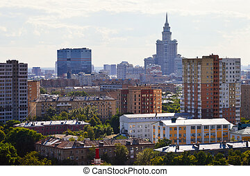 residential area and high-rise building in Moscow