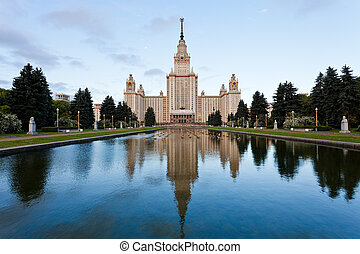 Moscow State University - panorama of Lomonosov Moscow State...