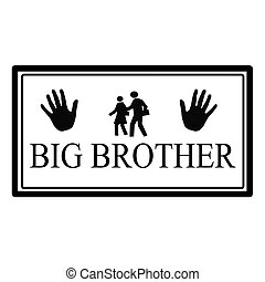 Big brother - Stamp with text big brother inside, vector...