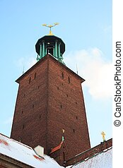Stockholm Cityhall Clock Tower - Clock Tower of Stockholm...