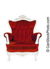 Vintage luxury red Armchair isolated - Vintage luxury red...