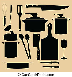 kitchen utensil vector illustration