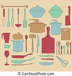 kitchen utensil vector illustration