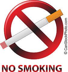 no smoking sign color vector illustration
