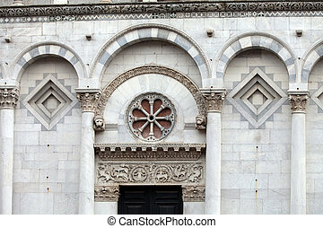 San Michele in Foro church - Lucca , Tuscany.