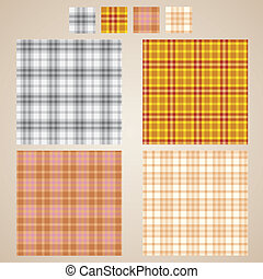 vector plaid patterns