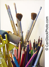 Art craft tools - Group of school art craft tools multi...