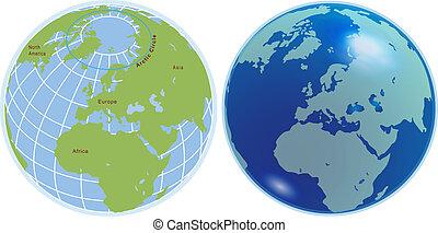 Globe spheres - Vector Globe spheres